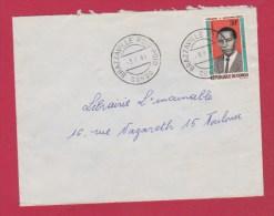 Congo  //  Enveloppe     //  De Brazzaville   //  Pour Toulouse  // 3/9/66 - Used