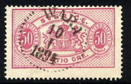 SWEDEN 1892 Official 50 öre Carmine Type II Perforated 13  Used.  SG O39e,  Facit  TJ22B - Service