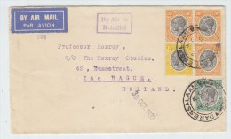 Tanganyika/Netherlands AIRMAIL COVER 1933 - Tanganyika (...-1932)