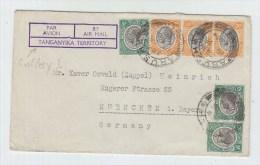 Tanganyika/Germany AIRMAIL COVER 1934 - Kenya, Uganda & Tanganyika