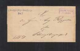 Dt. Reich Brief  Magistrat Berlin Central Bureau 1894 - Dienstpost