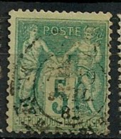 Timbres - France - 1876-1878 - Sage - Type 2 - 5 C. - N° 75 -