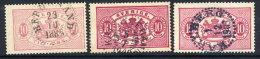 SWEDEN 1885 Official 10 öre Three Shades,  Used.  SG O33, 33b, 33c, Michel 5Ba-b - Service