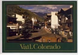 VAIL, Colorado - Pedestrian Vail Villge high in the Colorado Rocky Mountains