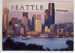 SKYLINE Of SEATTLE, WA - Seen From Alki Point, Ferries, Ferry, Nice Stamp - Seattle