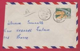Congo  //  Enveloppe     // De Pointe Noire   // Pour Toulouse  // 5/5/75 - Used