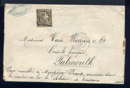 Lettre De Bordeaux Pour Falmouth 1875 - 1849-1876: Période Classique