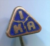 IKA - Enamel, Vintage Pin, Badge - Transportation