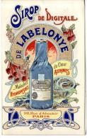 SIROP DE DIGITALE DE LABELONYE  PARIS  -  TRES BELLE ILLUSTRATION  -  2 VOLETS - Publicités
