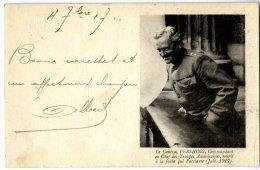 LE GENERAL PERSHING COMMANDANT EN CHEF DES TROUPES AMERICAINE  -  CARTE EN FRANCHISE  -  GUERRE 14 18 - Marcophilie (Lettres)