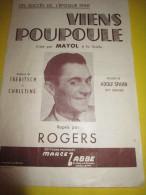 Viens Poupoule/ Rogers / Marcel Labbé/ 1940-50        PART38 - Partitions Musicales Anciennes