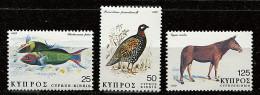 Chypre ** N° 499 à 502 Sauf  501 - Flore Et Faune De Chypre - Cyprus (Republic)