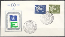 Europa Cept 1961 Germany Cover 5 Jahre United Nations(F2103) - Europa-CEPT