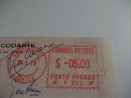 STORIA POSTALE ANNULLO ROSSO A MACCHINETTA CILE Santiago Vista Hacia Oriente - Chile