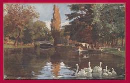 BORDEAUX. Le Jardin Public. - Le Parc. - Illustrateur : Tuck. Raphael. - Oilette. (C.P.A. - Petit Format.) - Tuck, Raphael