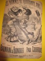 Les Hommes De 40 Ans /§ Chanson Comique/ Bonnaire / Eldorado / 1900-1910      PART40 - Partitions Musicales Anciennes