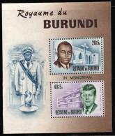 Burundi BL 0010*  Rwagasore Et Kennedy  H - 1962-69: Neufs