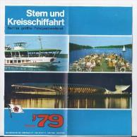 Stern Und Kreisschiffahrt Fahrplan 1979 - Europa