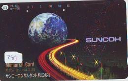 Télécarte Japon * MAP Cate Du Monde * GLOBE (781) SPACE * Mappemonde * Japan Phonecard * Telefonkarte * GLOBUS - Espacio