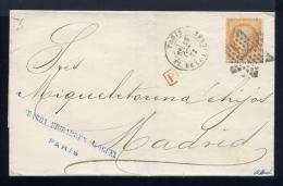 Lettre De Paris Pour Madrid 1873 - 1849-1876: Période Classique