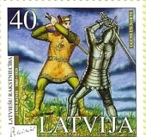 Latvia- Literature – Rainis, 2005-old Soldiery Fight Sabers -MNH - Latvia