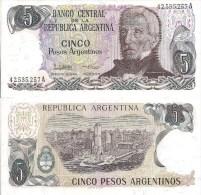 Argentina P312a. 5 Pesos, San Martin / Monument To The Flag, Rossario - Argentina