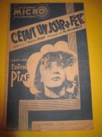 C´était Un Jour De Fête/Edith Piaf / Marguerite Monnot/ Micro / Vers 1935-1940  PART44 - Partitions Musicales Anciennes