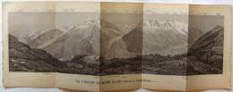 """Panorama """" La Chaine Du Mont Blanc Vue De La Flegère """"   -  1897 - Other"""