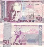 Armenia P41, 50 Dram, Ballet Dancers With Swords, Musical Score, Mt. Ararat - Armenia