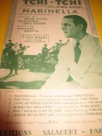 Tchi Tchi / Tino Rossi /Vincent Scotto/ Editions Salabert  /1937   PART50 - Partitions Musicales Anciennes
