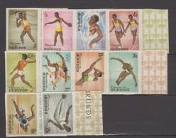 BURUNDI      1964   TOKYO     N°  102 / 111  ( NON DENTLES)  + BF   N° 5    COTE    31 € 00 - 1962-69: Ungebraucht