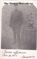 CPA CARTE PHOTO MILITAIRE POIX DECEMBRE 1914 SOUS LIEUTENANT 20 EME REGIMENT D INFANTERIE 682 - Personen