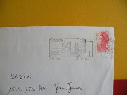 Flamme + Timbre - 09 Ariège, Pamiers - 3.11.1989 - - Oblitérations Mécaniques (flammes)