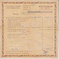 INSURANCE PREMIUM, RECEIPT, 1948, ITALY - Italia