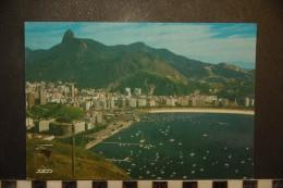 CP, Brésil, Rio De Janeiro Panorama Botafogo E Corcovado - Brasilien