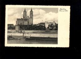 MAGDEBURG  1938 Dom Mit Elbe Bateau Péniche Barge Et Remorqueur Batelier Batellerie Boat Schiff - Magdeburg