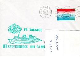 PR DURANCE Escale à Severomonsk (Russie) Obl. Paris Naval 30/06/94 - Marcophilie (Lettres)