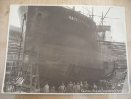 Ramscapelle Ijslander Boot Oude Foto 17 Op 23 Cm Antwerpen Central Marine Engineering 1900 - Nieuwpoort
