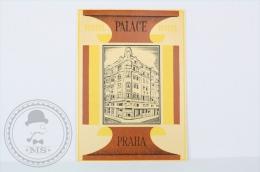 Hotel Palace, Praha - Czechoslovakia - Original Hotel Luggage Label - Sticker - Hotel Labels