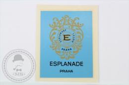 Hotel Esplanade, Praha - Czechoslovakia - Original Small Hotel Luggage Label - Sticker - Hotel Labels