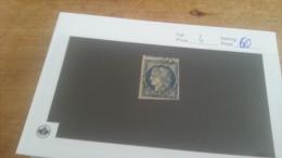 LOT 224389 TIMBRE DE FRANCE OBLITERE N�4 VALEUR 60 EUROS