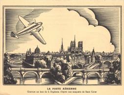 ILLUSTRATEUR  RENE COTTET  GRAVURE SUR BOIS S DUPLESSIS  PARIS  EXPO PHILATELIQUE POSTE AERIENNE 1943 - Illustrators & Photographers