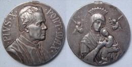 Vatican Vaticano Médaille Commémorative Pape Pie X Papa Pius X En Argent  Argento - Jetons & Médailles
