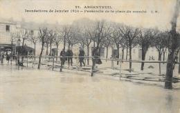 Argenteuil - Inondations De Janvier 1910 - Passerelle De La Place Du Marché - Carte Non Circulée - Inondations