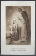 IMAGE PIEUSE Vers 1930 D´après J. BRETON: LA DERNIERE COMMUNION DE SAINTE JEANNE D´ARC - JOAN OF ARC HOLY CARD / SANTINO - Imágenes Religiosas