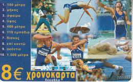 GREECE - Sports/Decathlon, Amimex Prepaid Card 8 Euro, Tirage %5000, Used - Grèce