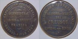 Bourgogne Saône-et-Loire Aciérie Usine Du Creusot Schneider & Compagnie Jeton Publicitaire 1880 - Professionnels / De Société
