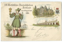 ALLEMAGNE - DORTMUND - Vom 11 Bis 14 Juni 1898 - 3 VUES - CPA - Deutschland