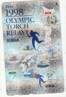 JAPAN - The 1998 Olympic Torch Relay, Nagano 1998 Winter Olympics, NTT Telecard 50 Units(271-800007), Used - Jeux Olympiques