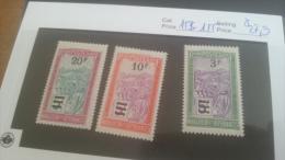 LOT 224463 TIMBRE DE COLONIE MADAGASCAR NEUF* N�153 A 155 VALEUR 27,9 EUROS